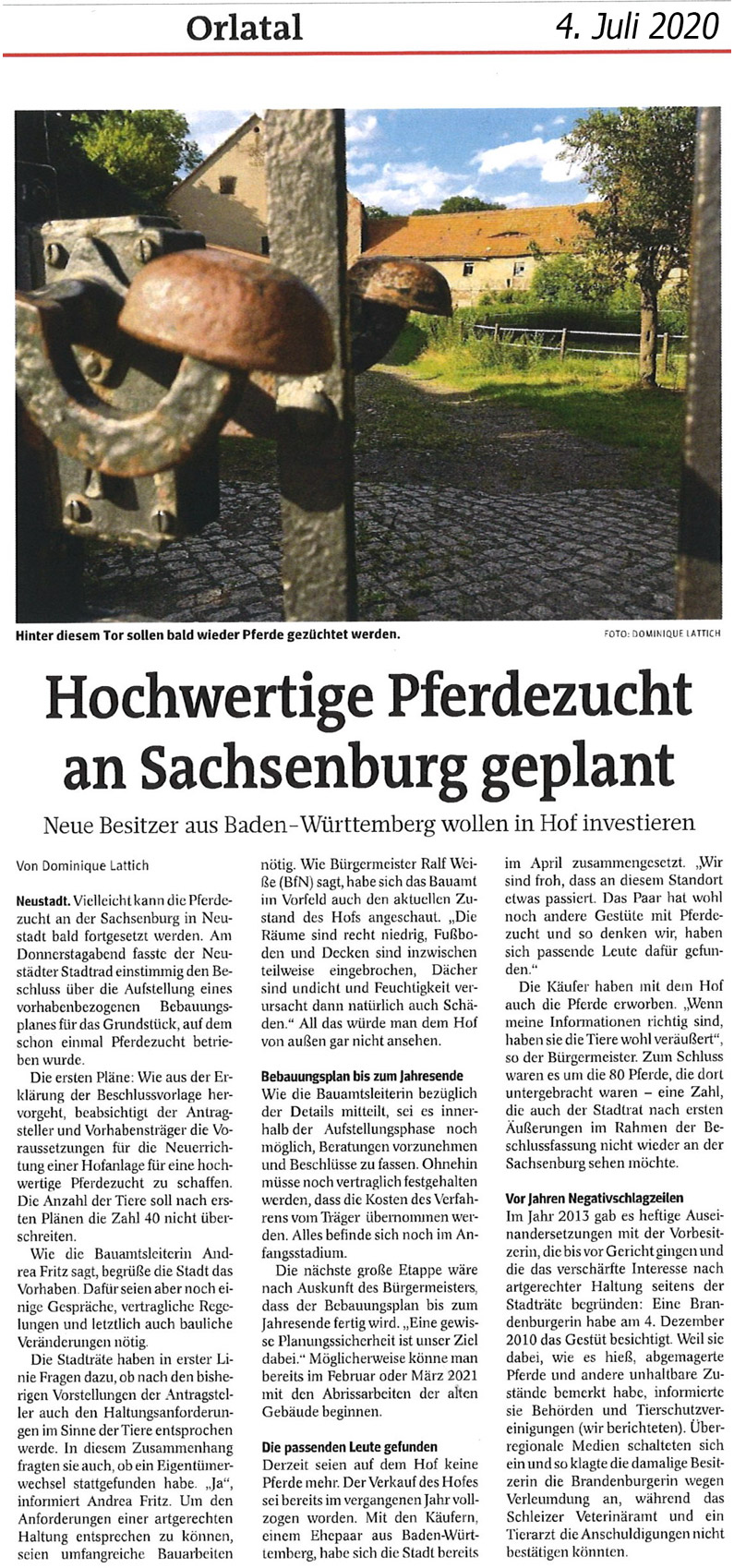 Press release Sachsenburg